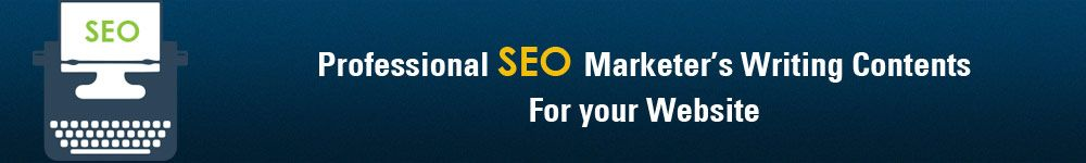 professional seo marketers writing contents for your website